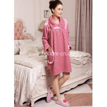 Fancy Printed Coral Fleece Pajama Dress