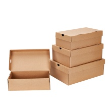 Korrugerad skolåda Plain Kraft Paper Storage Box