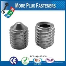 Fabriqué en acier inoxydable en acier inoxydable en acier hexagonale Point de cône ISO 4027 DIN 914