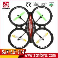 2016 Nuevos juguetes y venta caliente 4CH 2.4GHz RTF UFO Aviones Drone Radio Control Toy RC Quadcopter w / 6 ejes Gyro SJY-LS-114