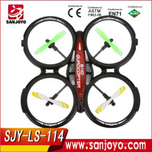 2016 New toys &Hot selling 4CH 2.4GHz RTF UFO Aircraft Drone Radio Control Toy RC Quadcopter w/6-axis Gyro SJY-LS-114