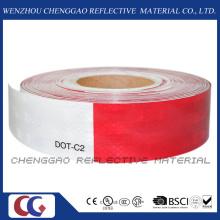 Vermelho e branco DOT-C2 limpar fita refletiva para sinalização de trânsito (C5700-B(D))