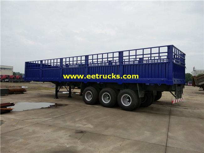 3 Axle 30ton Box Cargo Semi Trailers