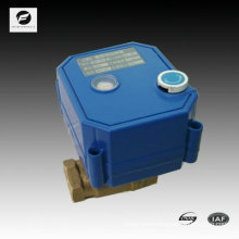 mini 2-way electronic valve with position indicator and manual override function for autocontrol water system