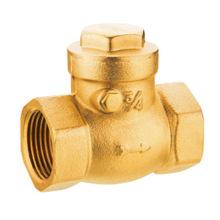 Válvula de retención de latón Swing, válvula de retención de latón J5004 pn16, precio bajo con buena calidad