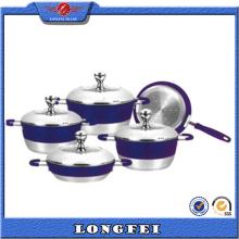 No Lampblack 5PCS Alumínio Cookware Set com alça
