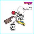 Promotional Wholesale Enamel Sports Charms Metal Keychain