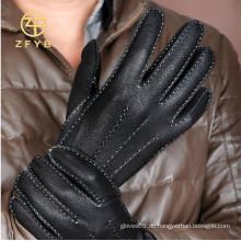 Heiße Verkauf klassische Art und Weisemannrotwildbeschaffenheit lederne Handschuhe mit aller Art