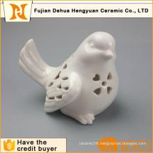 White Ceramic Hollow Bird Ceramic Crafts (garden decoration)