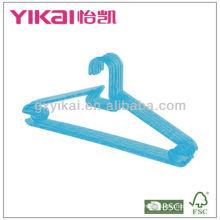 Hot Selling Cristal PS Plastic Hanger com Racks para Tie e Nothes para correias