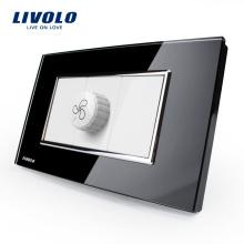Prise de ventilateur de vitesse en verre trempé de luxe standard US / AU de Livolo VL-C391S-82