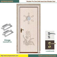 Entrada puerta de madera Puerta de madera pura Puerta de madera plana