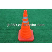 foldable safety road cone with LED light