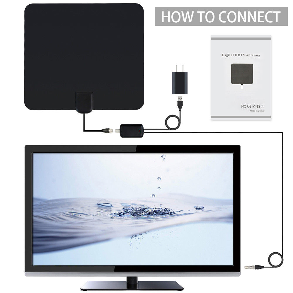 High gain indoor uhf/vhf digital hdtv tv antenna