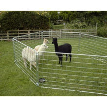 Hot Dipped Galvanized Sheep Fence Panel with Loops/7 Rail Interlocking Sheep Hurdle Sheep Corral Panel/Cattle Corral Panels for Australia