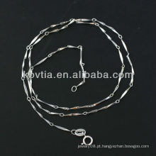 Mulheres favorito 925 prata esterlina cadeia de atacado
