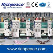 Richpeace precisión máquina de bordado multi-cabeza de bobinado mixto computarizado