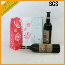 bolsa de cartón de papel botella de vino