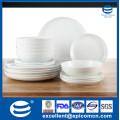 Превосходные товары для посуды, комплект из белого фарфора 18шт. Для отеля, оптовый набор для ужина