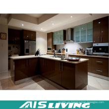 Muebles de gabinete de cocina ULTRAVIOLETA con la manija para la venta al por mayor (AIS-K399)