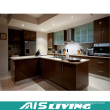 UV Kitchen Cabinet Furniture with Handle for Wholesale (AIS-K399)
