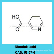 Ácido nicotínico en polvo / CAS 59-67-6 / grado USP / BP / FCC4 / GMP y DMF