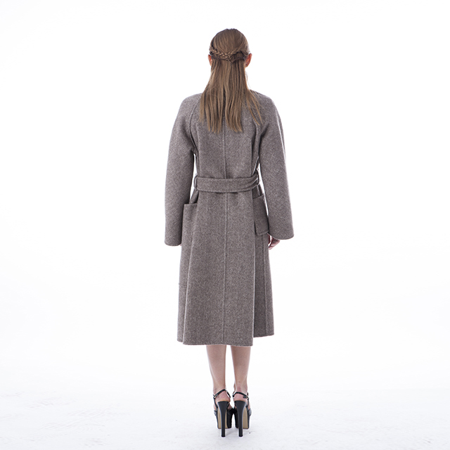 Cashmere overcoat double-sided medium-length