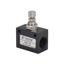 Válvula neumática de control de flujo de la serie ASC