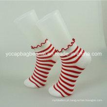 Moda colorida algodão mulheres meias