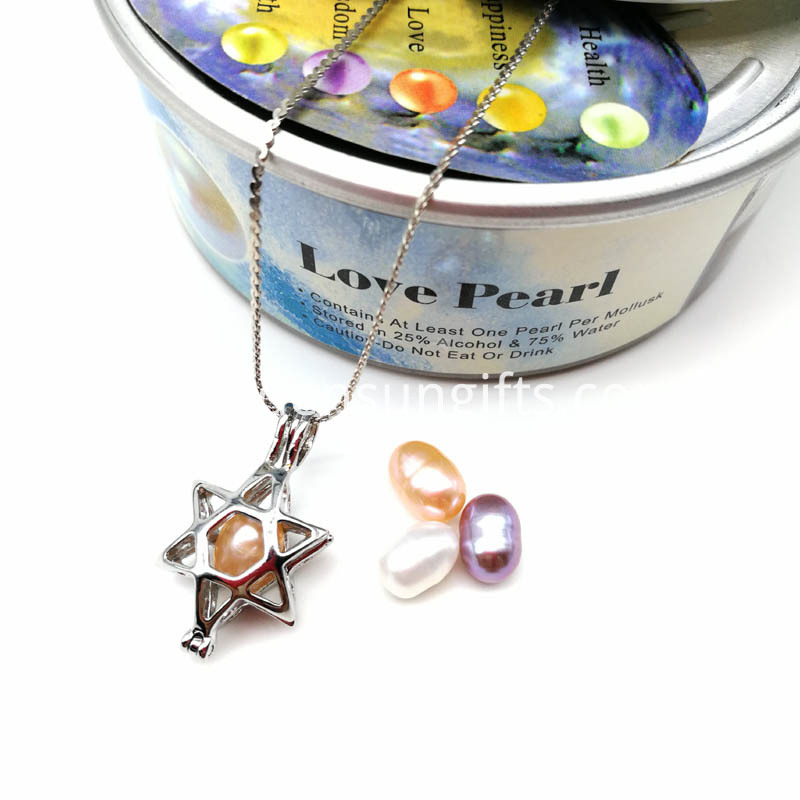 Pearl Beads Locket Pendant Necklace