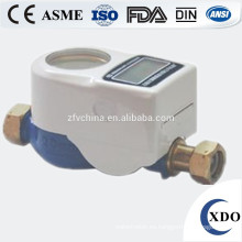 DN15 prepago medidor de agua, medidor de agua de tarjeta IC, cuerpo de agua inteligente metro