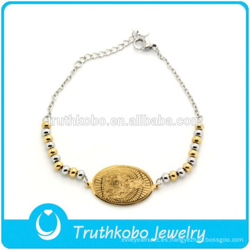 Pulseras cristianas personalizadas pulseras cristianas al por mayor pulsera de oro personalizada para los cristianos