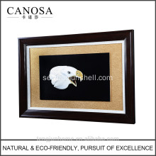 CANOSA skal hand engarving 3D eagle head Wall Picture frame