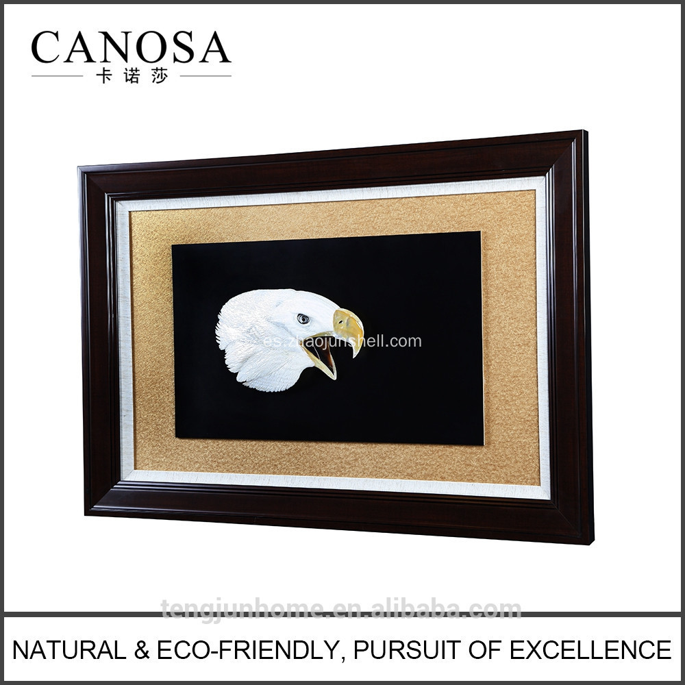 CANOSA shell mano engarving eagle 3D pared principal marco