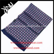 Tela de borla artesanal impresso duplo lado lenço de seda magro