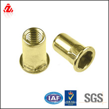 factory custom copper screw with internal thread