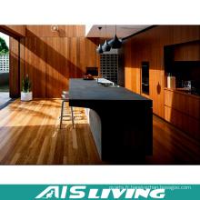 Meubles d'armoires de cuisine de placage de mélamine pour la villa (AIS-K309)