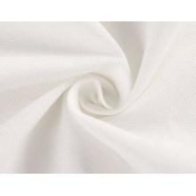 Off White Cream Polyester Stoff aus Baumwolle Twill gewebt