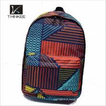 Design branded polyester kids trolley school bag