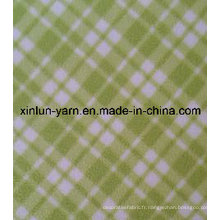 Tissu polaire lourd de polyester de 100% pour la couverture / chaussures