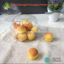 Conteneur de cupcake transparent en plastique transparent