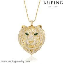 32008 Xuping moda 18k colgante en forma de tigre chapado en oro