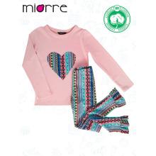 Miorre OEM новый сезон 2017 малыша девушки Модный Цвет элегантные узорчатые пижамы набор