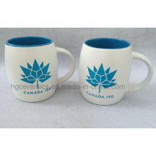 Sandblast Ceramic Mug with Color Filled