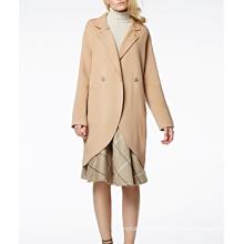 17PKCSC001 women double layer 100% cashmere wool coat