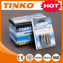 OEM Super AlkalineAAA battery 4pcs/blister OEM welcomed