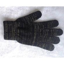 Promoción tejido de acrílico caliente caliente pantalla táctil guantes / manoplas
