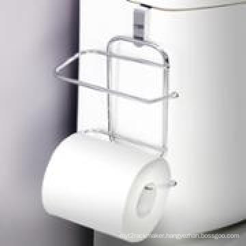 Over-The-Tank Toilet Paper Tissue Hanging Metal 2-Roll Reserve Holder