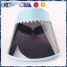 Factory Popular special design cheap plastic visor cap for wholesale