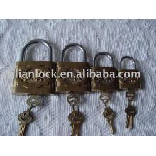 globe brand cast iron padlock